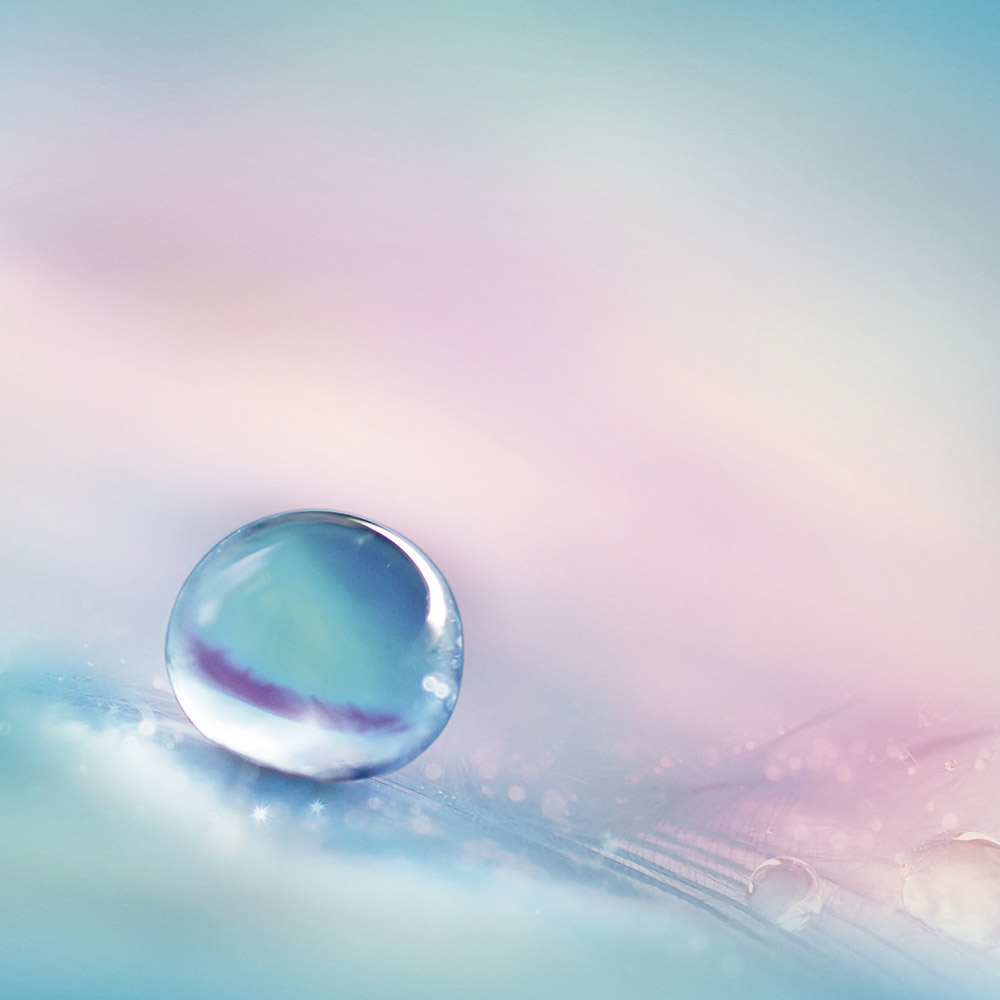 Water pearl in a abstract background