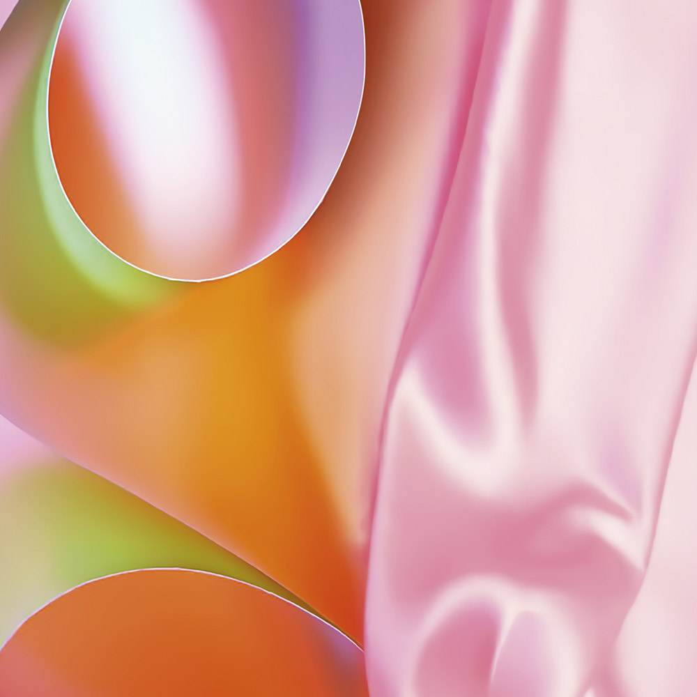Colourful silk abstract