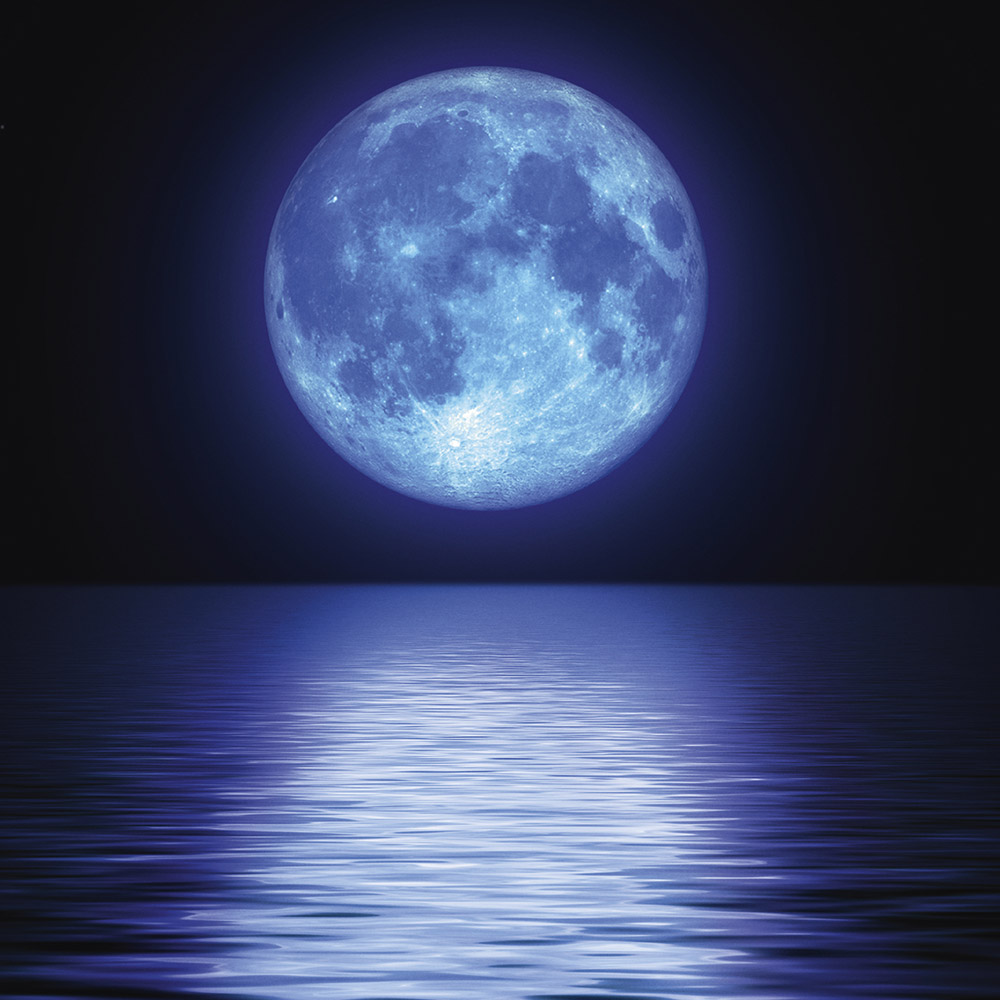 Big moon over the water